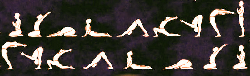 Moon Salutation (Chandra Namaskar) steps