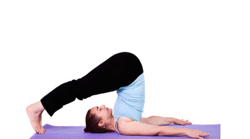 Halasana for reflects on the face and the skin: